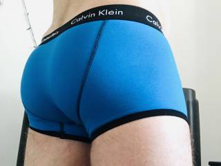 Just nice butt in blue undies...why not ??;)