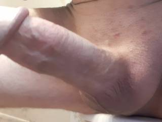 Just shaved and hard