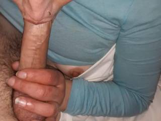 Whiskey dick had her sucking my half hard dick for an hour Lol. She said she liked that it wasnt all the way hard making her gag Lol