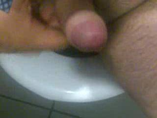 next time, let me sit between your legs, with my chin on the toilet seat, and you can jerk off on my face and squirt on my tongue while my wife makes the video, perhas invite some of your male friends to watch and jack off on my face too