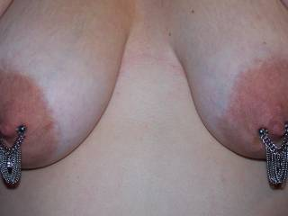 Fantastic tits,,,,,,love you pierced nipples and jewellery!!!