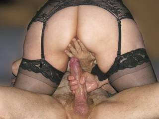Alovley thick cock for a lovley pussy .Nice stockings dead lucky guy....xx