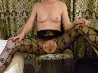 i absolutely adore stockings and love the outfit, I would be filling you with my hard rod within seconds