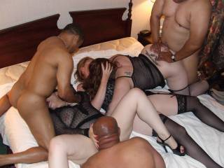 hotel party the three women getting it by three guys