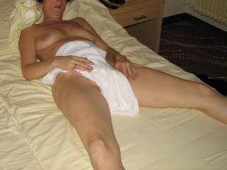 my friend lying down before our sex session