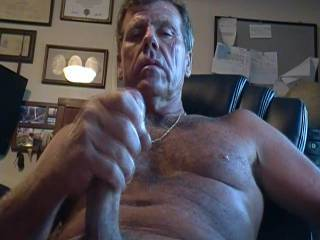 age doesn't matter to some. I know.  only 63 but I love to play with my cock.  stroke on. nice head work