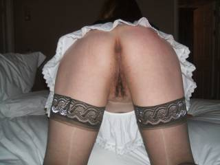 With my BF who loves spanking me and using me