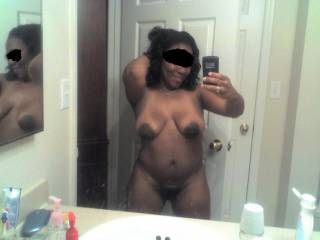 She looks great ! What a body she does have,great figure. Incredibly sexy how dark the skin tone of her areoles are. What hot tits..she has...Ohh yeah.