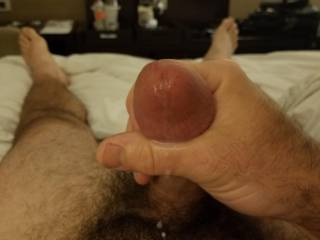 Cumshot at the hotel