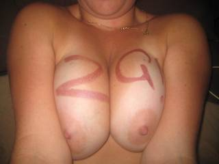 I want you to tease the tip of my cock with those sexy nipples!