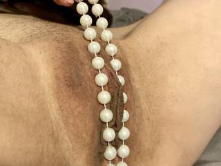Shove that cock between my pearls and fuck me good