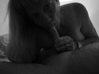 Johanne sucking a cock