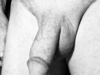 A friend wanted a photo of my penis in black and white.