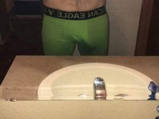Selfie to show the outline of my cock in these tight briefs