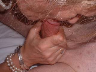 Mrs Oz sucks our friend A's thick cock at my birthday swinger party