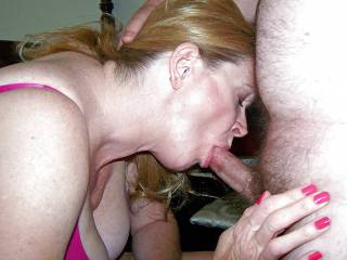 Kathie loves sucking cock. Love to hear if she sucked your cock.