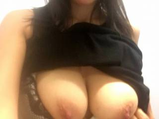 his wife's tits.....looking for hung stud