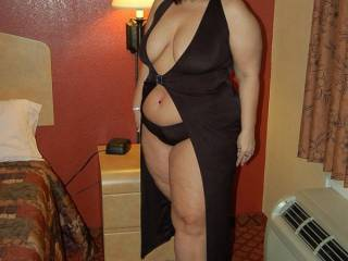 I walked into the hotel room to find NaughtyV dressed and ready for play