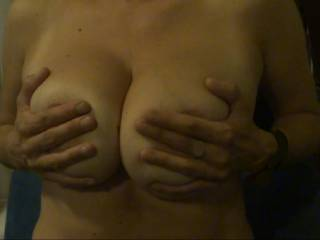 I Want Your Cum On My Tits.  Cum tribute my tits.