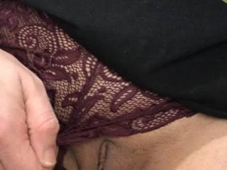 The lace feels good on my lips....I wonder what else would feel as good?