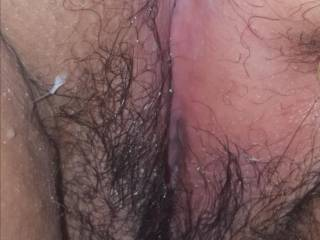 Extremely wet by cum dripping from inside my pussy