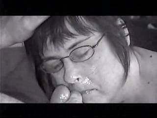 Mmmmmm...love a hot cum facial with glasses! Love to be there watching and jacking off a load of cum on your panties while he cums on your face and glasses!