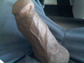 Mmm....would love to suckl that big black veiny cock  : )