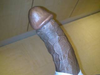 Mmmmm, and I see you...you hard, gorgeous delicious looking black cock.  It looks good enough to eat...and swallow.  MILF K
