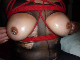 do you like my tits tied up?