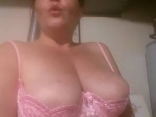 Trying on my new demi cup bra.  Do you like?