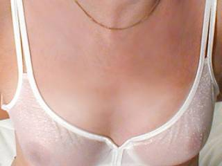 Love to flick my tongue on the nipples and leave a wet patch on the bra...