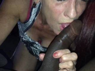 This is how you suck on a big hard black cock