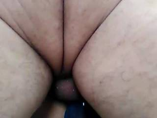 Mrs Nawty being fucked by our friend and fingers in her ass