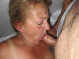 Sucking my cock