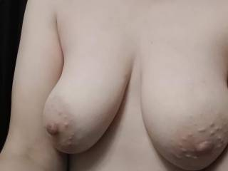 Wife showing me her tits