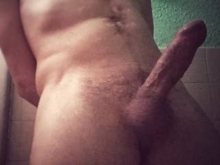 A closer shot of my erected cock.