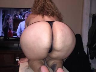 Girlfriend showing big ass