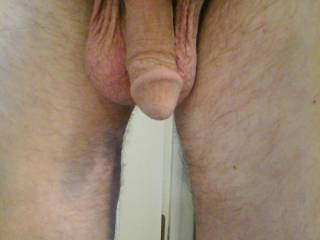 After a shower, he is shaved and clean, ready to relax and play naked. If you had him to play with, what would you do?