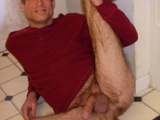 Nice hairy man, i would slide my cock in your ass and both hands i would jerked your hairy dick.