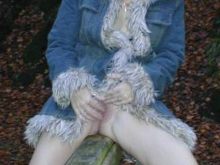 Wish I was in those woods, I'd tie her to a tree, expose and tease her naked cunt til she was begging for cock!