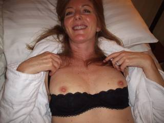 We really want to lick & suck this wife's areolas + nipps while her hubby pounds her pussy open