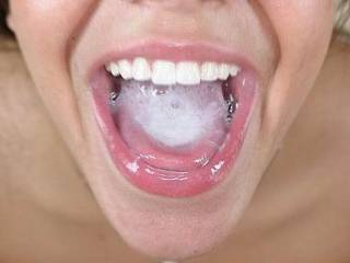 heres a pic to show the other how cum in the is cum in the mouth ,not on lips ,noise or whatever ,,,but in the mouth as it should be.