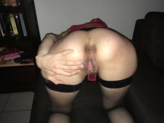 Ass, spread, wide, butt, horny
