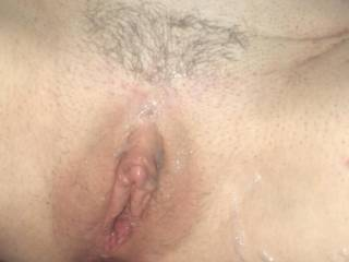 it's sticky and wet .....