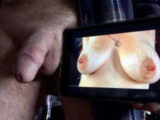 Love Titty Selfies... delicious nipples. I\'m going to jerk off now. Will take a video.