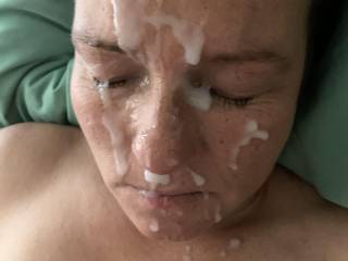 The last facial I gave my sexy wife in 2019!