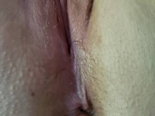 She likes it when she is rubbing her pussy and I finger her ass. She really wants a DP...