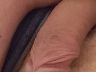 rub your pussy lips over it