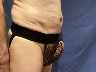 \'His\' struggle to break free is rather clear to see in these undies.