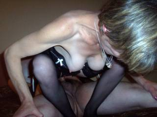 i understand why that's so damn good when she does! A birds eye view of her ass cheeks and her wet pussy riding up and down has to keep you,rock hard.